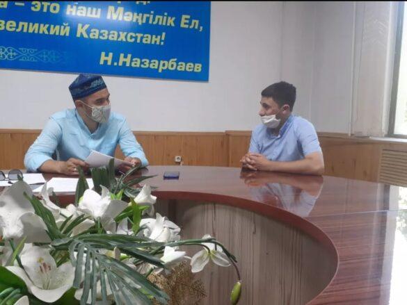 Асан Джалилов принял участие в соцопросе по вопросам развития курдского этноса в городе Шымкент