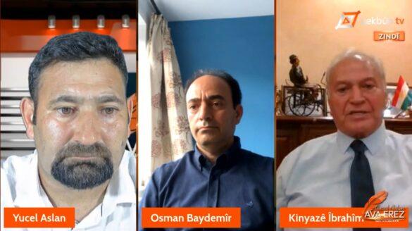 """Mêvanên bernameya """"Ava Erez"""" li ser Yekbûn TV ên îroj Osman Baydemîr û Prof. Knyazê Îbrahîm e    11.07.2021"""
