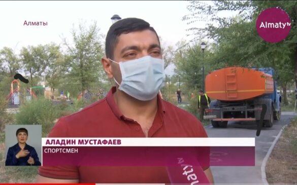 Акция «Возьми под опеку дерево» продолжается в Алматы. Она сейчас проходит во всех районах мегаполиса || Almaty TV (28.07.2021)